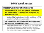 pmr weaknesses1