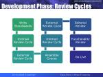 development phase review cycles