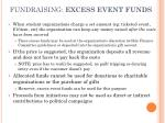 fundraising excess event funds