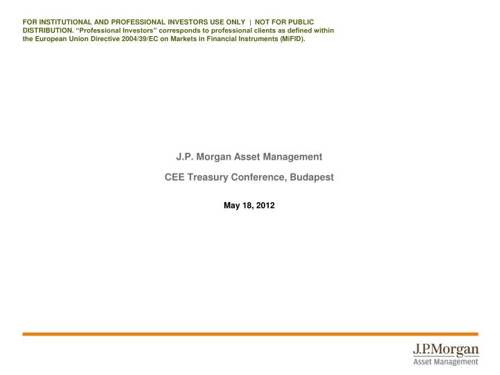 j p morgan asset management cee treasury conference budapest n.