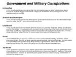 government and military classifications