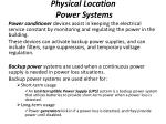 physical location power systems1