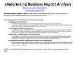 undertaking business impact analysis