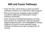 abs and career pathways