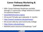 career pathway marketing communications
