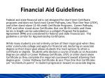 financial aid guidelines