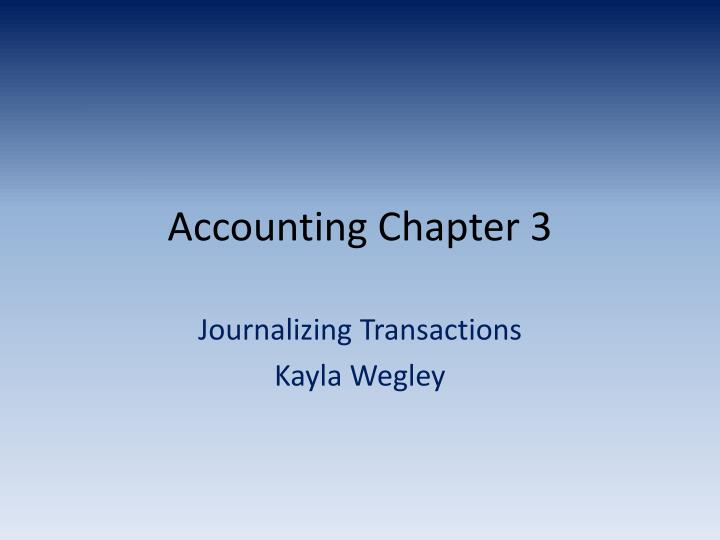 accounting chapter 3 n.