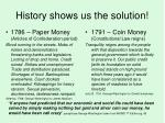 history shows us the solution