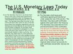 the u s monetary laws today1