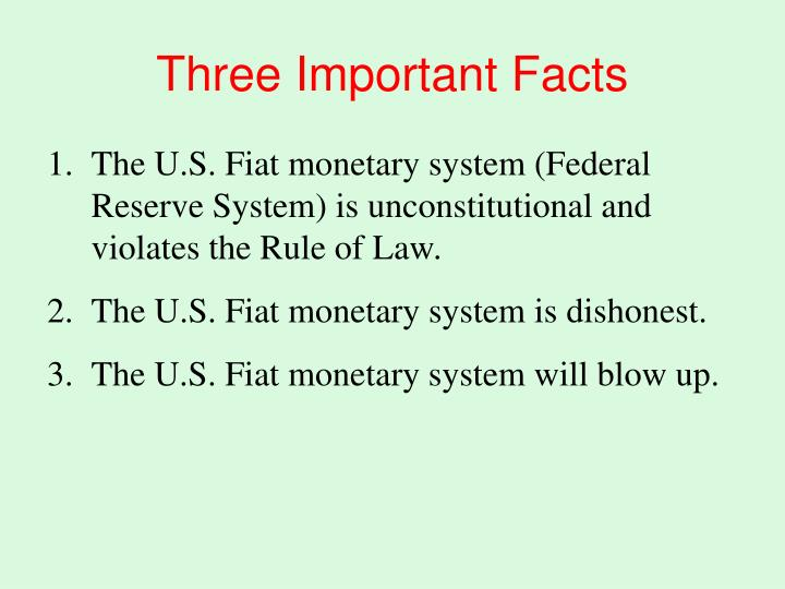 three important facts n.