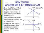 now you try analyze sr lr effects of m
