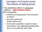 the money hypothesis again the effects of falling prices3