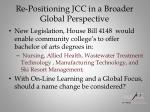 re positioning jcc in a broader global perspective