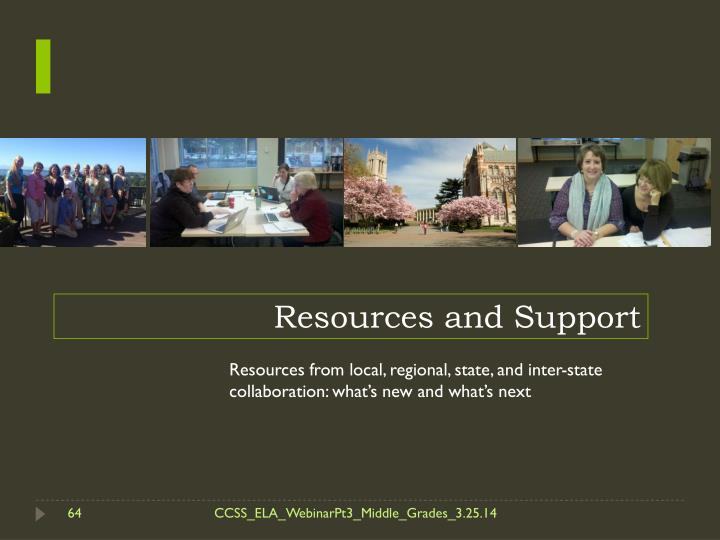 Resources and Support