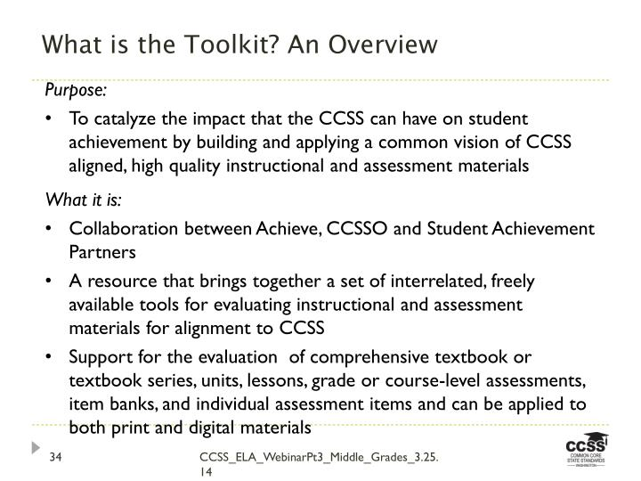 What is the Toolkit? An Overview
