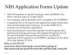 nih application forms update
