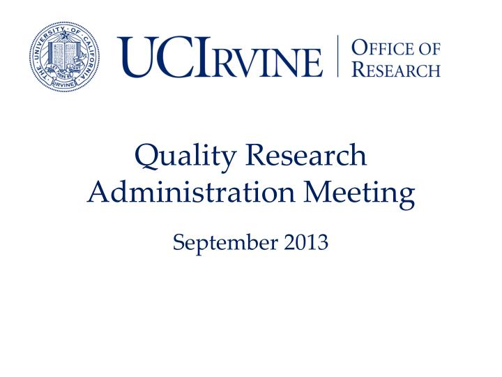 quality research administration meeting n.