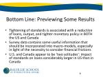 bottom line previewing some results