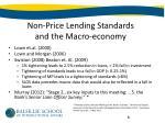 non price lending standards and the macro economy