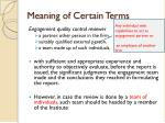 meaning of certain terms1