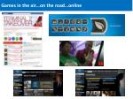 games in the air on the road online