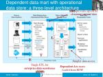 dependent data mart with operational data store a three level architecture