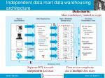 independent data mart data warehousing architecture