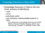 knowledge discovery in data kdd