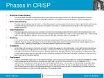 phases in crisp