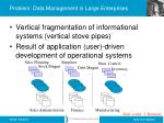 problem data management in large enterprises