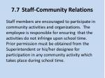 7 7 staff community relations