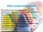ess leadership team