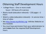 obtaining staff development hours