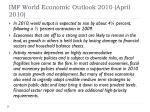 imf world economic outlook 2010 april 2010