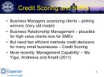credit scoring and smes