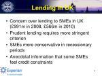lending in uk