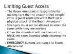 limiting guest access