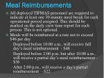 meal reimbursements