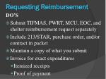 requesting reimbursement3