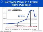 borrowing power of a typical home purchaser