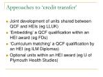 approaches to credit transfer