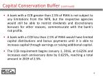 capital conservation buffer continued