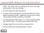 proposed fasb allowance for loan losses alll