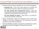 proposed fasb financial assets and liabilities continued