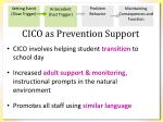 cico as prevention support