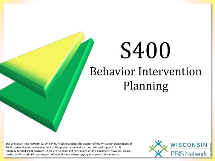 s400 behavior intervention planning n.