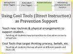 using cool tools direct instruction as prevention support