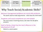 why teach social academic skills