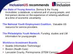 inclusion us recommends