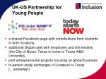 uk us partnership for young people
